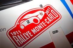 soixante-dix-neuvième Rassemblement de Monte Carlo, édition de centenary Photographie stock