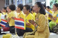 09,2016-soixante-dixième année de BANGKOK THAILAND-JUNE dans le règne du roi de la Thaïlande Images libres de droits
