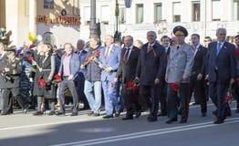 soixante-dixième anniversaire de Victory Day en Russie Photos libres de droits