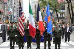 soixante-dixième Columbus Day Parade annuel dans NYC image stock
