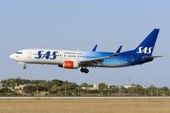 soixante-dixième livrée d'anniversaire sur le jet de SAS Photo stock