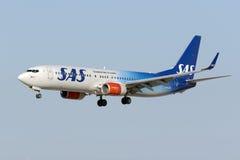 soixante-dixième livrée d'anniversaire sur le jet de SAS Image libre de droits
