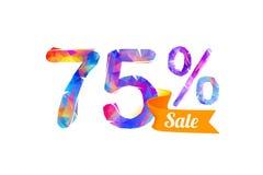 75 soixante-quinze pour cent de vente Images stock