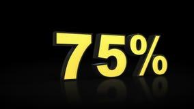 Soixante-quinze rendus des pour cent 3D de 75 % Photographie stock