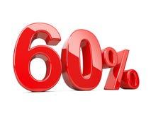 Soixante symboles rouges de pour cent taux de pourcentage de 60% Offre spéciale DIS Photo libre de droits