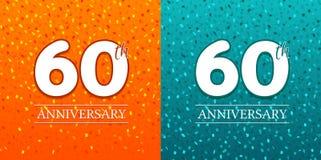 soixantième fond d'anniversaire - 60 ans de célébration Vecteur de l'anniversaire Eps10 illustration de vecteur