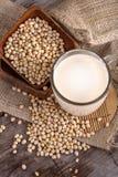 Soja e leite de soja fotografia de stock royalty free