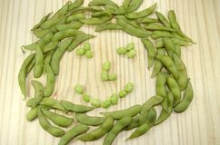 Soja verde o soja japonesa Foto de archivo libre de regalías