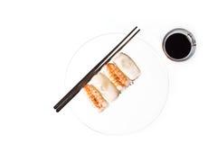 Soja y sushi Foto de archivo libre de regalías