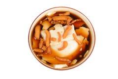 Sojabohnenöl-Pudding Stockfoto