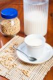 Sojabohnenmilch Lizenzfreie Stockfotos