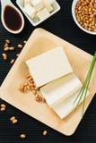 Sojabonen en Tofu Stock Afbeeldingen