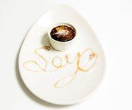 Sojasås i en kopp Royaltyfri Foto