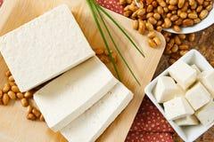 Sojas con el queso de soja Imagenes de archivo