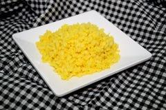 Sojas en el plato blanco 0022 Foto de archivo