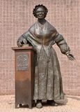 Sojourner Truth Statue. This is a Summer picture of the Sojourner Truth Statue that is part of the Sojourner Truth Memorial located in Battle Creek, Michigan in Stock Images