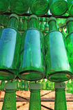 Soju bottles - green alcohol closely Royalty Free Stock Images