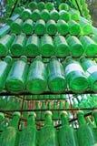 Soju-Flaschen - grüner Alkohol nah Lizenzfreie Stockfotos