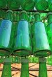 Soju-Flaschen - grüner Alkohol nah Lizenzfreie Stockbilder