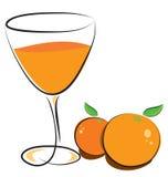 sok pomarańcze Obrazy Royalty Free