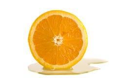 sok pomarańcze pokrajać Zdjęcie Stock