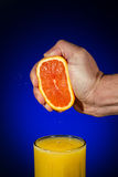 sok pomarańczowy gniosąca świeżej Fotografia Stock