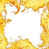 Sok pomarańczowy pluśnięcia rama Fotografia Stock