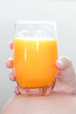 Sok pomarańczowy przygotowywający pić każdy dzień Zdjęcie Royalty Free