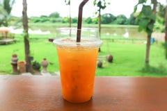 Sok pomarańczowy lub pasyjny owocowy sok Zdjęcie Stock