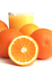 sok pomarańczowy segmentu szklane Zdjęcie Stock