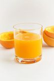 sok pomarańczowy white odizolowane Obraz Royalty Free