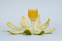 sok pomarańczowy white odizolowane Obrazy Royalty Free