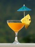 Sok pomarańczowy z Parasolem Obrazy Stock