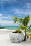 Sok san pier in koh rong island cambodia Royalty Free Stock Image