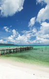 Sok san pier on long beach in koh rong island cambodia Stock Images