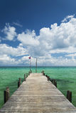 Sok san pier on long beach in koh rong island cambodia Royalty Free Stock Photo