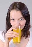 sok szklana kobieta fotografia royalty free