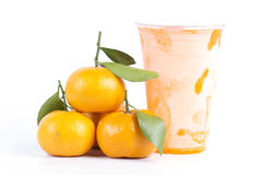 sok zamarznięta pomarańcze Zdjęcia Royalty Free