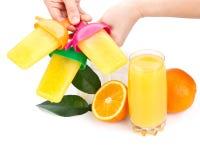 sok zamarznięta pomarańcze Obrazy Royalty Free