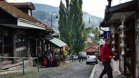 Sokak in Sarajevo stock video footage