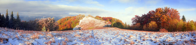 Sokal Ridge en automne Images stock