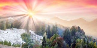 Sokal Ridge en automne Image libre de droits