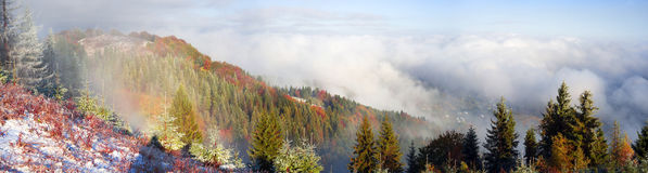 Sokal Ridge en la caída Fotos de archivo libres de regalías