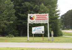Sokaogon Chippewa Community in Crandon, Wisconsin Royalty Free Stock Photography