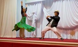 SOKCHO, ΚΟΡΈΑ - 11 ΙΟΥΝΊΟΥ: Σύγχρονος κορεατικός χορός στο κόμμα γευμάτων Στοκ Εικόνες
