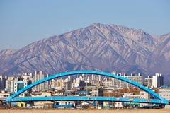 Sokcho. City, the city in front of seorak mountain in Korea Stock Photo