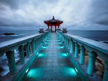 Yeonggeumjeong Pavilion Against a Stormy Sky Royalty Free Stock Photo