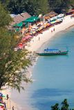 Sokha Beach sokha hotel sokha resort in sihanoukville province. Sokha is a beautiful beach with its one-kilometer crescent and comparatively wide so that there stock photography