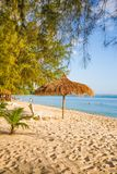 Sokha Beach sokha hotel sokha resort in sihanoukville province. Sokha is a beautiful beach with its one-kilometer crescent and comparatively wide so that there stock photo