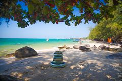 Sokha Beach sokha hotel sokha resort in sihanoukville province. Sokha is a beautiful beach with its one-kilometer crescent and comparatively wide so that there royalty free stock image